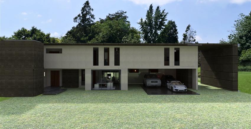 Modern condo house Interior Design Render
