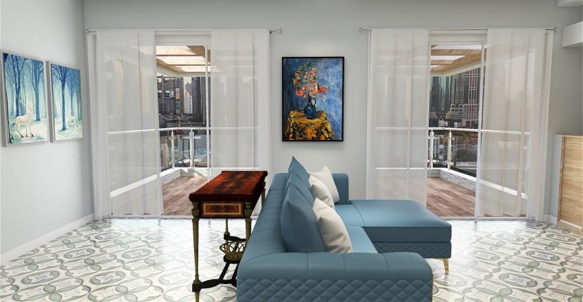Copy of Room 4 - Natural Wood Tones Interior Design Render