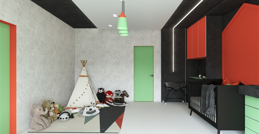 Baby-Kids Room Interior Design Render