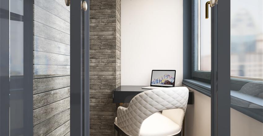 Современная квартира студия . Interior Design Render