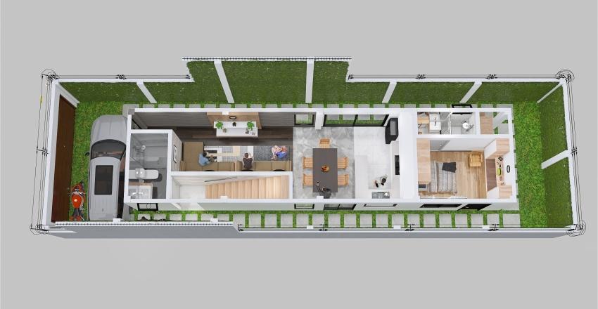 Casa de 2 pisos - 1ER. PISO Interior Design Render