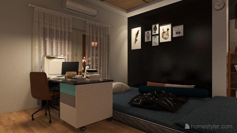 phòng ngủ d1 Interior Design Render