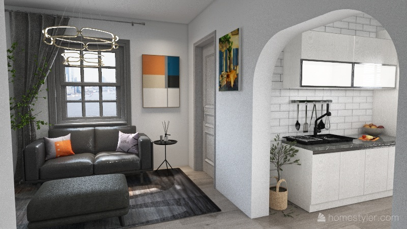 Two Story 1 Interior Design Render