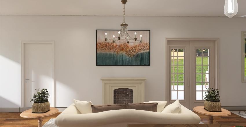cute cottage Interior Design Render