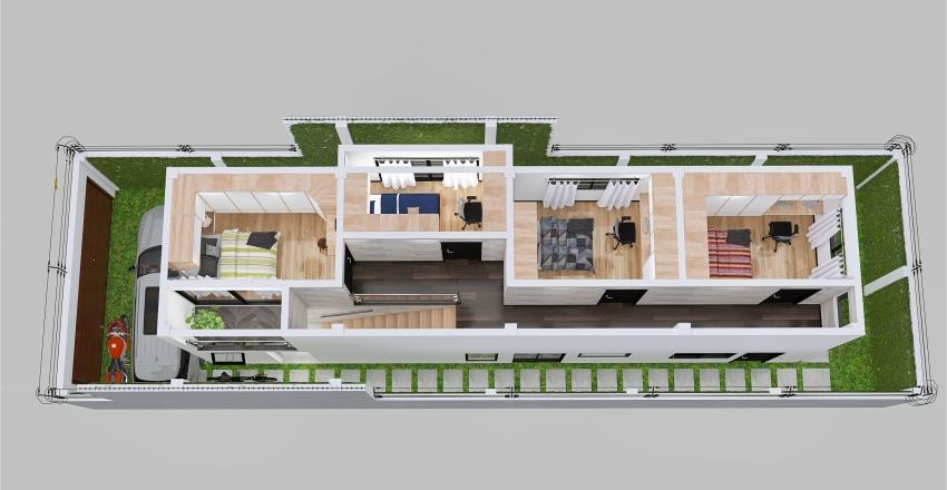 Casa de 2 pisos - 1ER. y 2DO. PISO (render interior) Interior Design Render