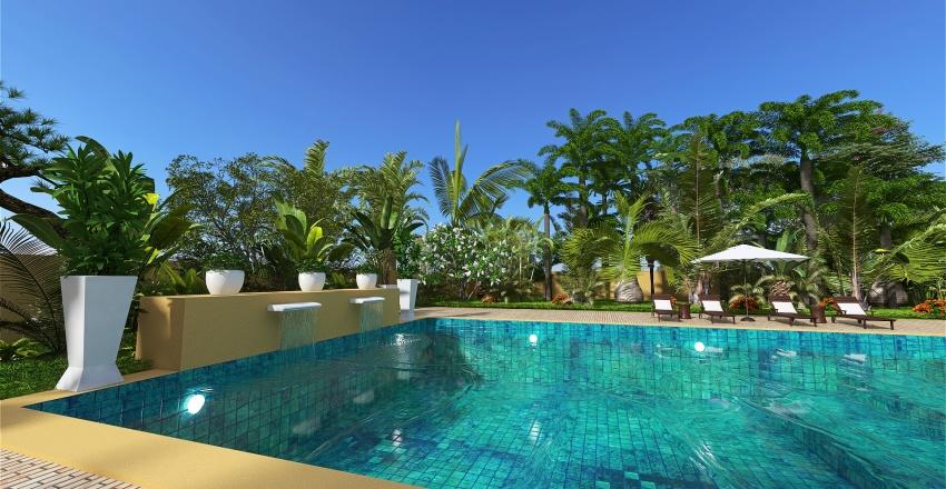 Moroccan Villa Interior Design Render