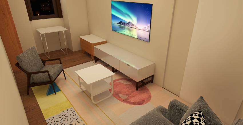 Small living room (about 4x2m) Interior Design Render