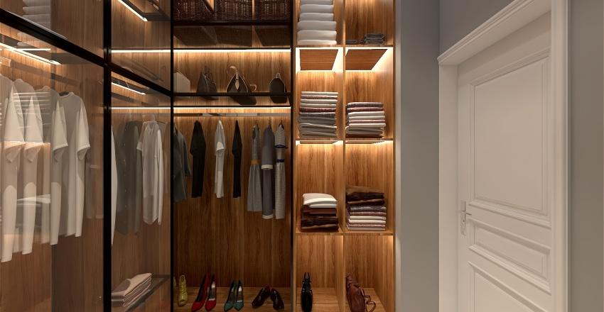 Wardrobe and Laundry room Interior Design Render