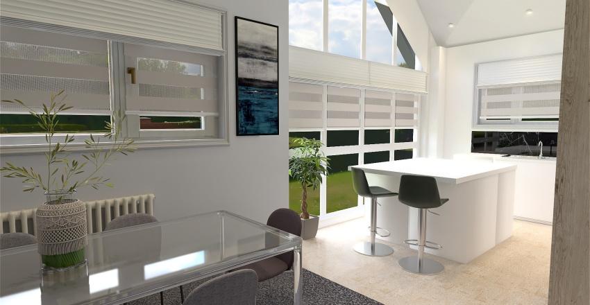 Coastal luxe Interior Design Render