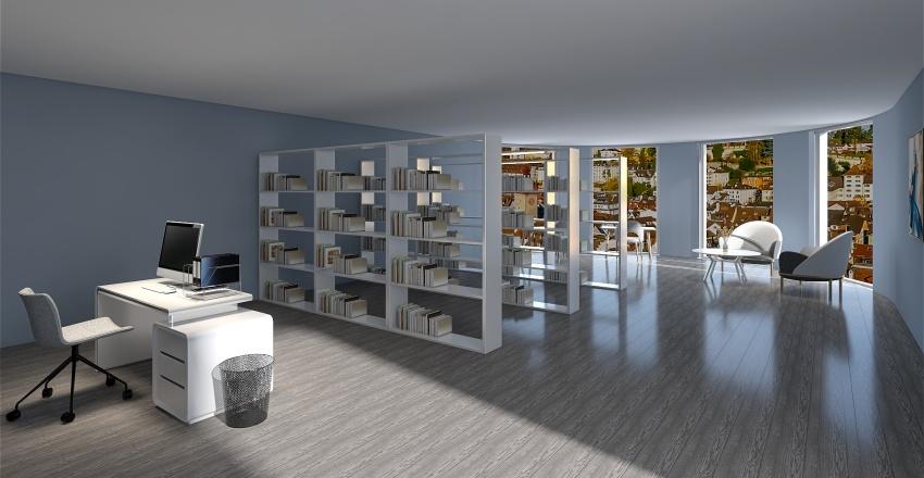 Library 1 Interior Design Render
