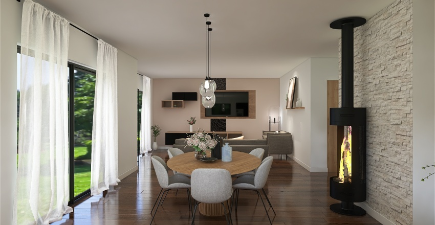 Maison construction Interior Design Render