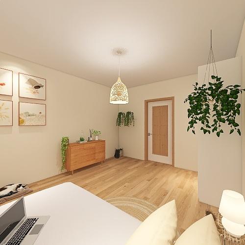Cuarto Boho Interior Design Render