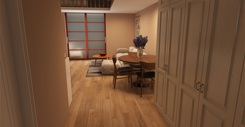 A small house in the woods Interior Design Render