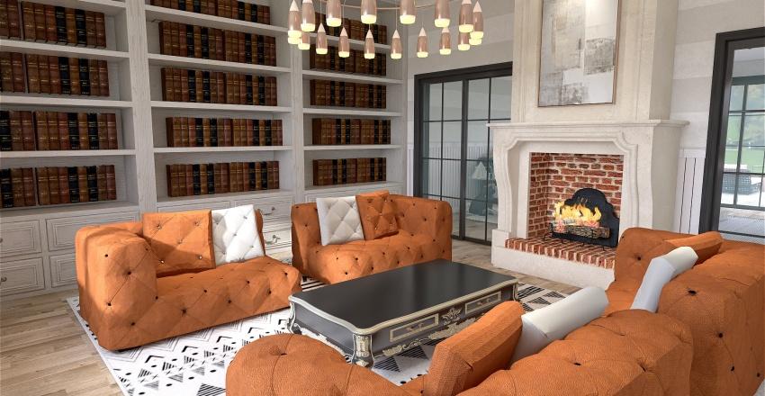 California rustic glam, giant bedroom re-design Interior Design Render