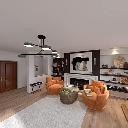 Arizona family room Interior Design Render