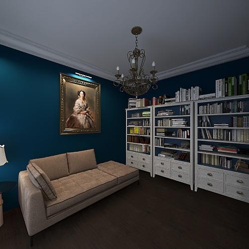 Biblioteca Interior Design Render