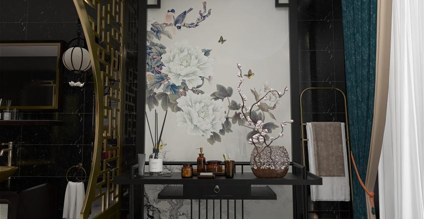 Oriental garden inspired Interior Design Render