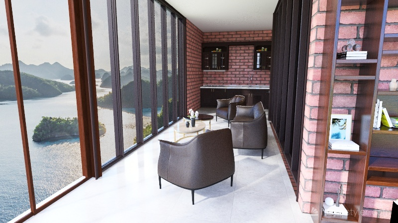 Stair haus Interior Design Render