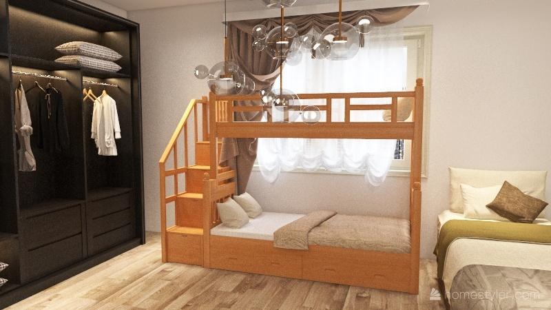 two storey house Interior Design Render