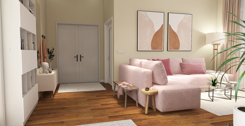 pinky Interior Design Render