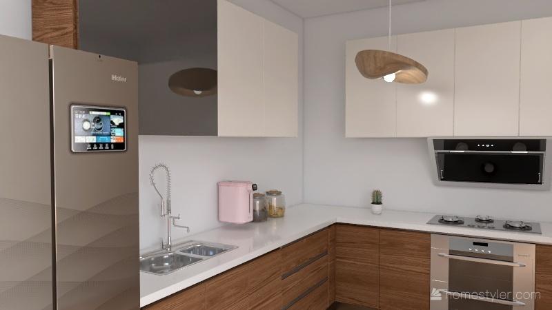 cozy kitchen Interior Design Render