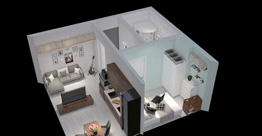 Tychy mieszkanko 31m2 Interior Design Render