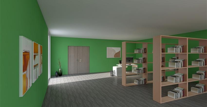 Library 2 Interior Design Render