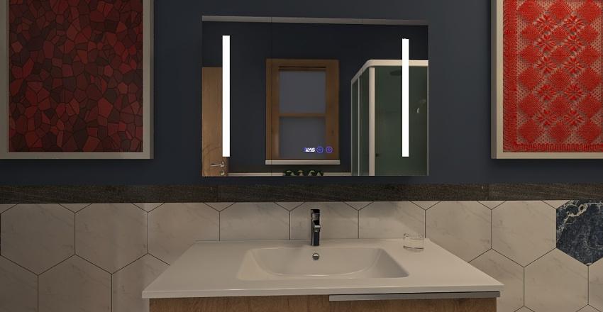 Gold & Green Interior Design Render
