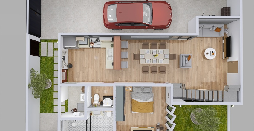 PROYECTO FRESNOS Interior Design Render