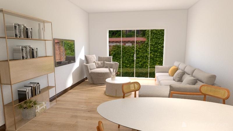 RENDERED SB Interiors - Green and White Bedroom Interior Design Render