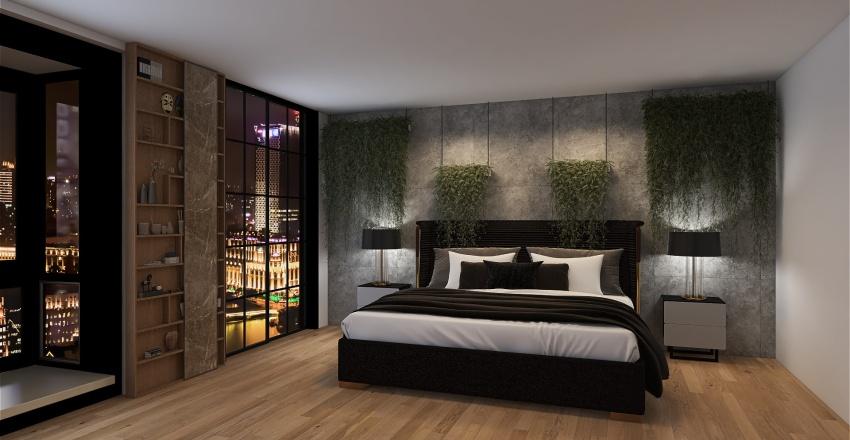 Man house Interior Design Render