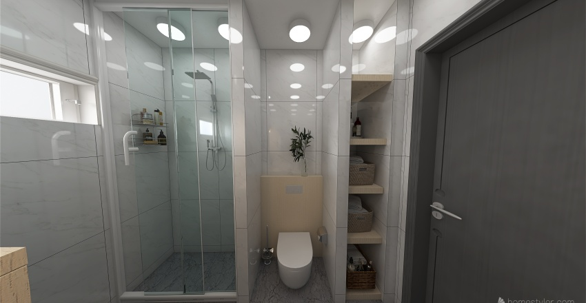 Modern and functional 25m2 Interior Design Render