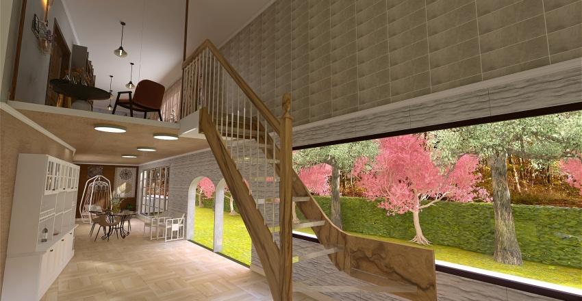 sobrado com cerejeiras Interior Design Render