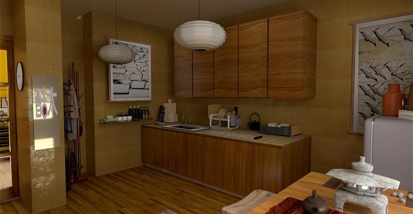 Oriental Flavour Interior Design Render