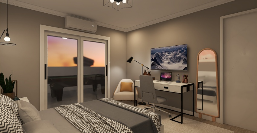 Ap 3 Bedrooms Interior Design Render