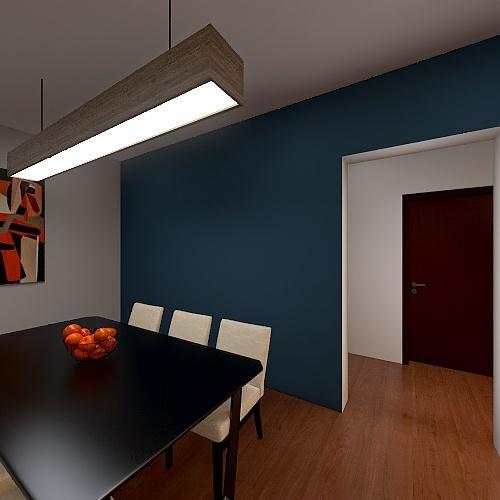 Apartament Interior Design Render