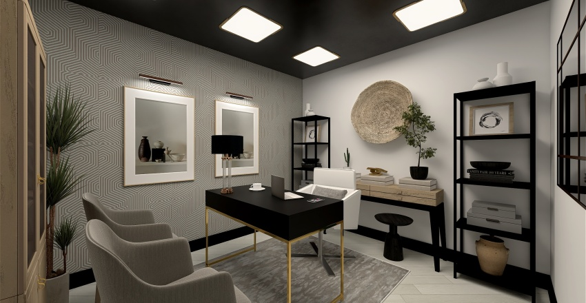 Emely's Office space Interior Design Render