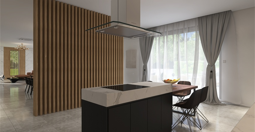 Home in the forest Interior Design Render