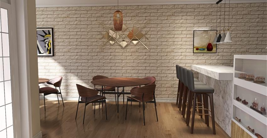 Giovanna's Bakery Interior Design Render