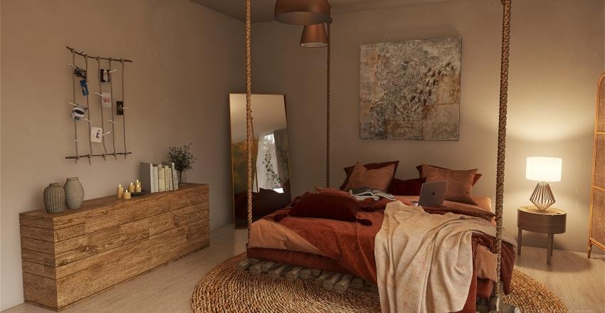 Room / boho Interior Design Render
