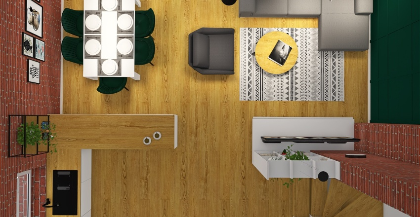 Copy of dom Malwiny v6 Interior Design Render