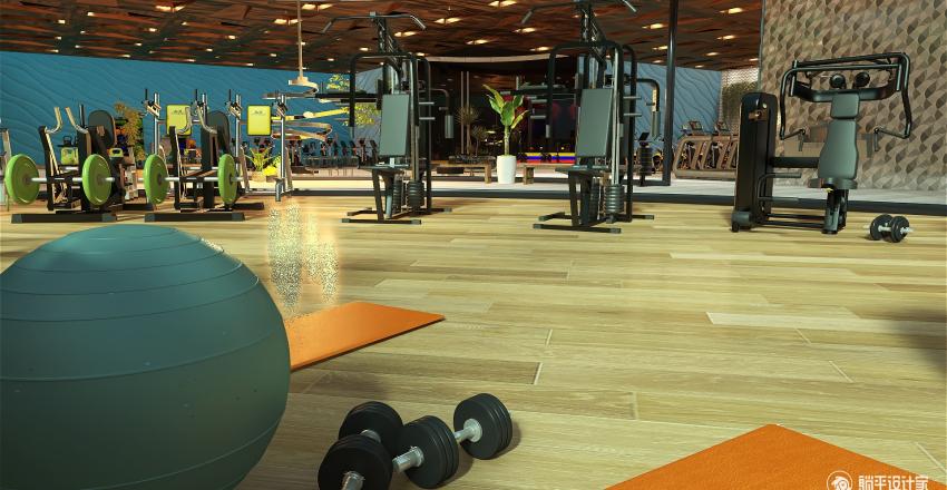 Element5 Fitness Center Interior Design Render