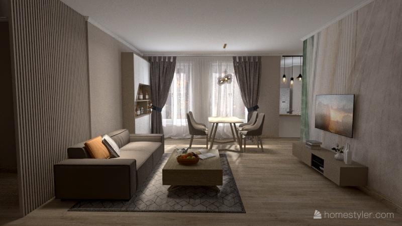120 м в центре спб Interior Design Render
