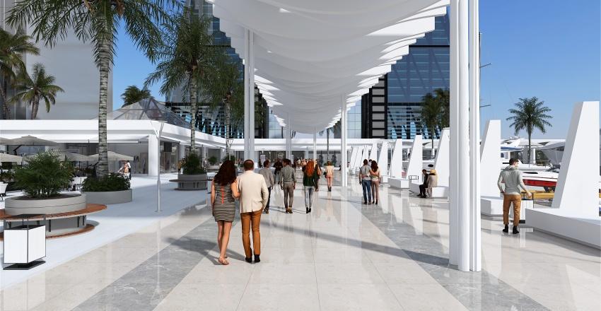 Puerto Deportivo Interior Design Render