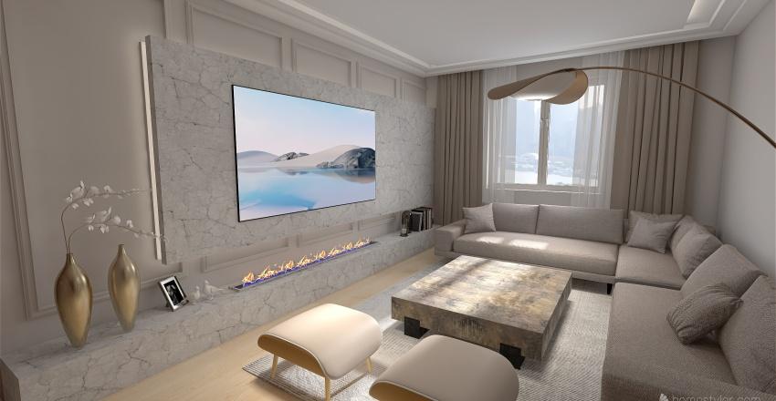 غرفة جلوس Interior Design Render