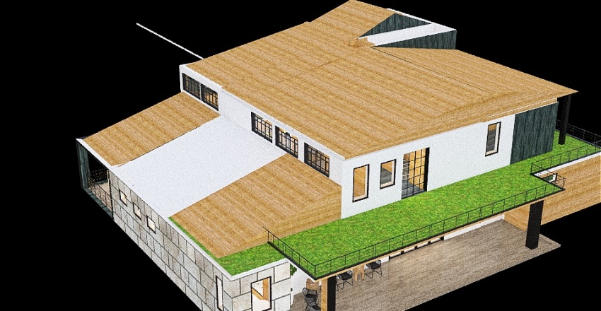 Cabin (Double Porch) Interior Design Render