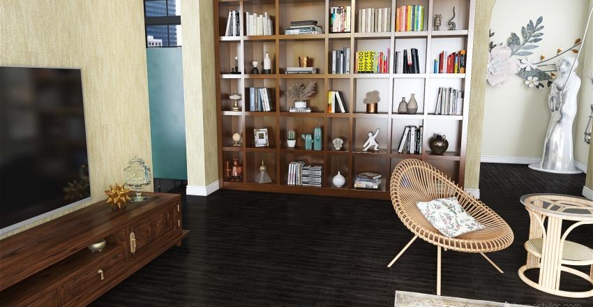 Art Deco Style Flat Interior Design Render