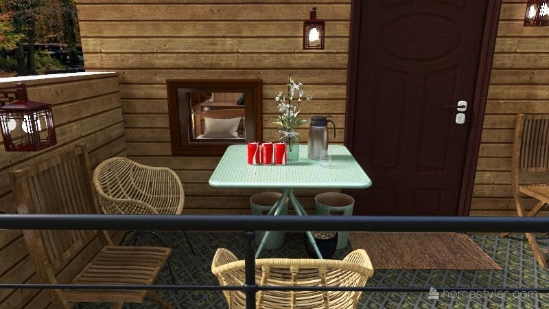 summer camp Interior Design Render