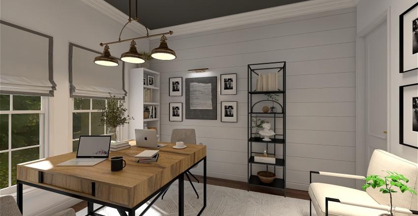 Modern Farmhouse - Office for two Interior Design Render