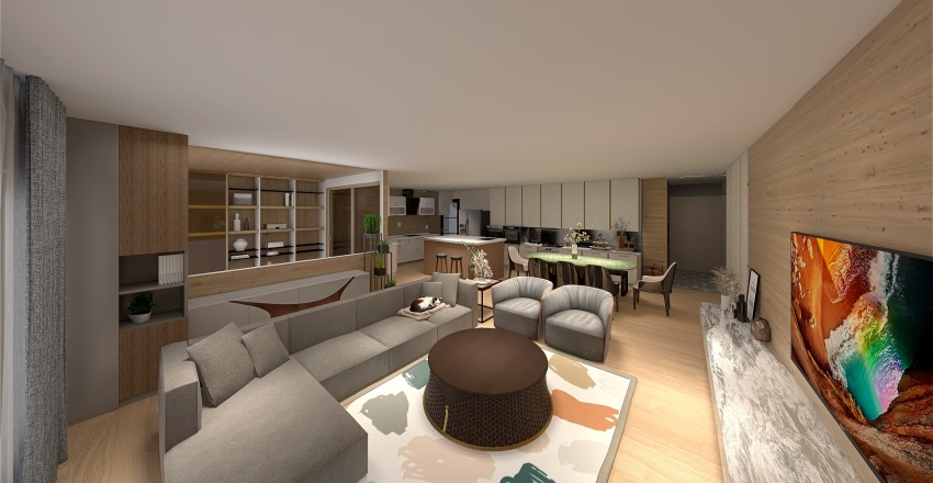 New Yang House Interior Design Render